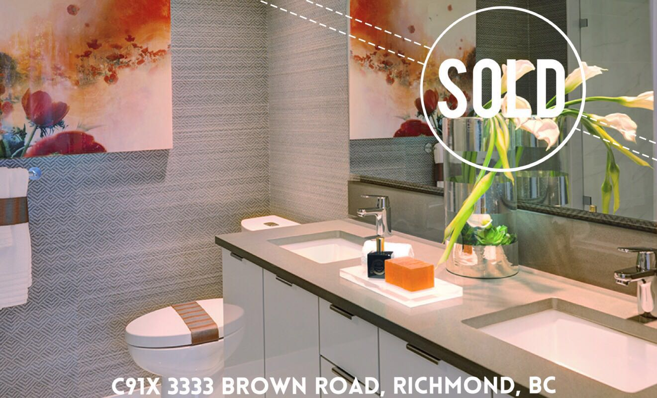 C917 3333 Brown Road, Richmond, BC   Avanti Sold By Ardis Zhang. If